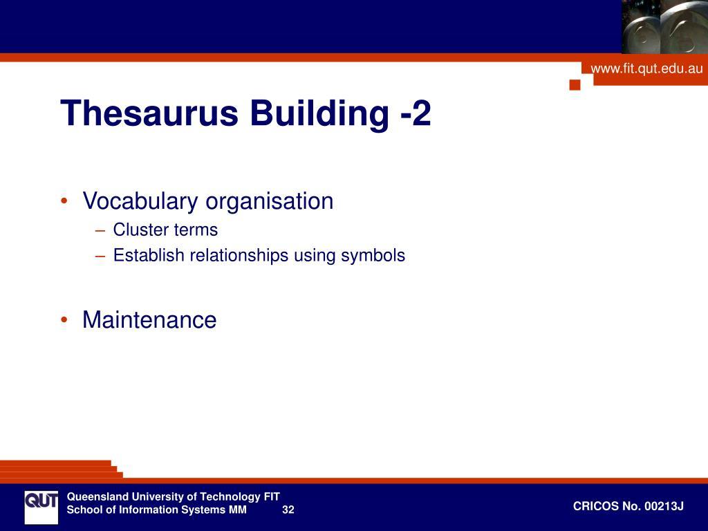 Thesaurus Building -2