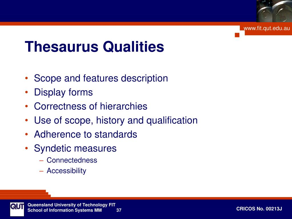 Thesaurus Qualities