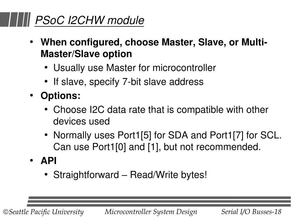 PSoC I2CHW module