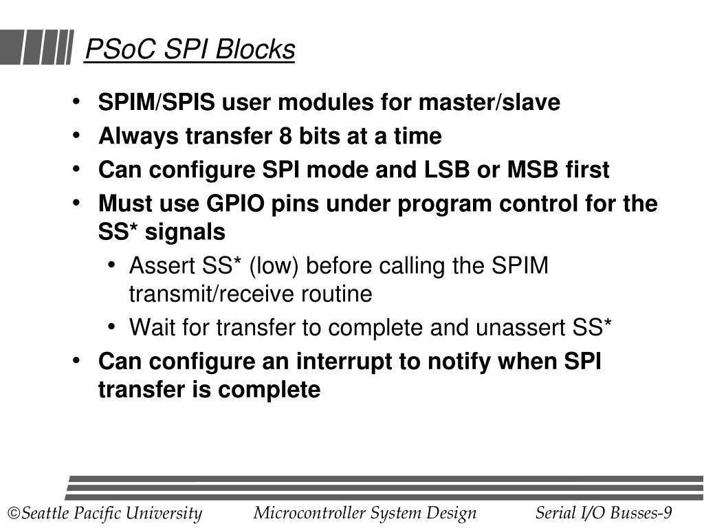 PSoC SPI Blocks