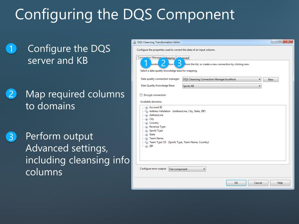 Configuring the DQS Component