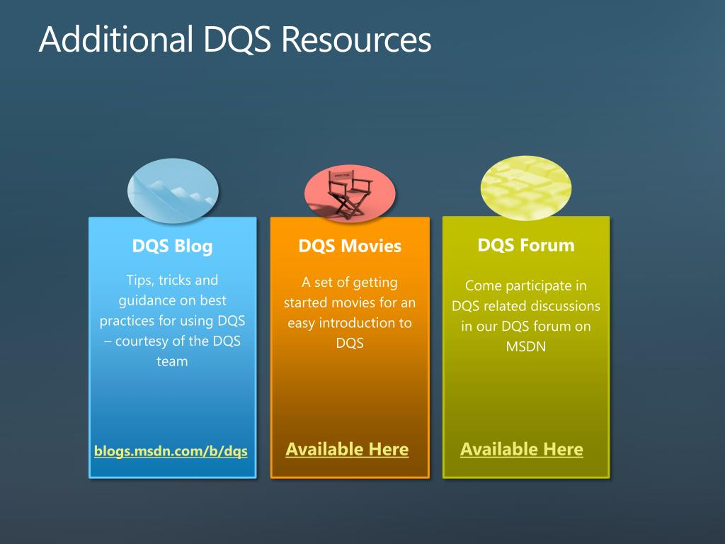 Additional DQS Resources