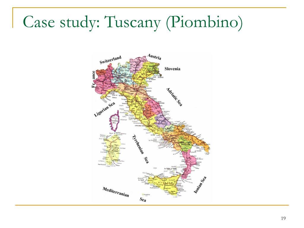 Case study: Tuscany (Piombino)