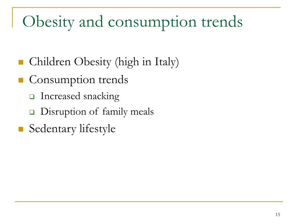 Obesity and consumption trends