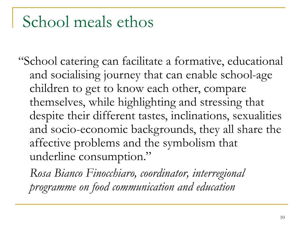 School meals ethos
