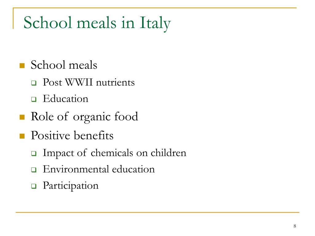 School meals in Italy