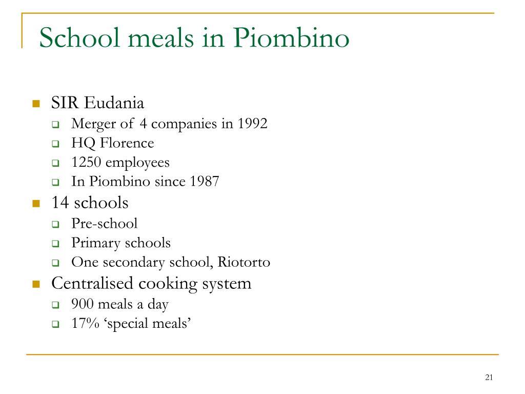 School meals in Piombino