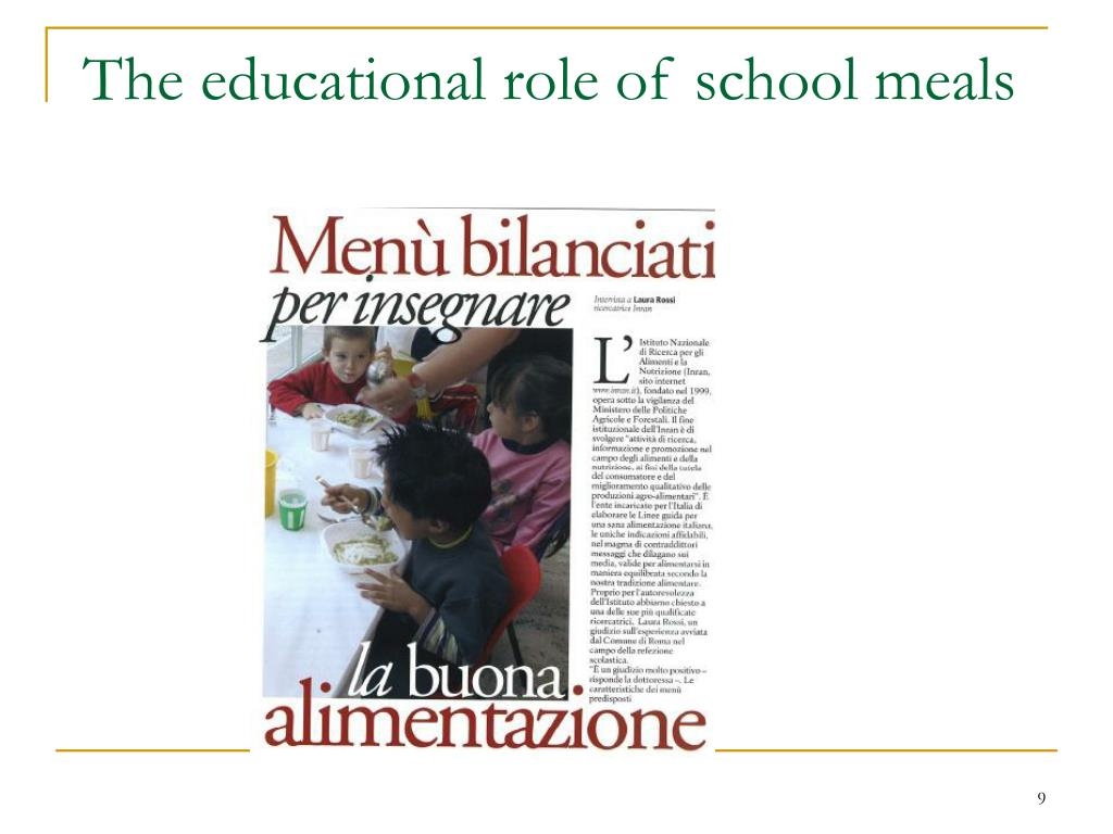 The educational role of school meals