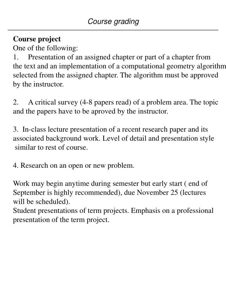 Course grading