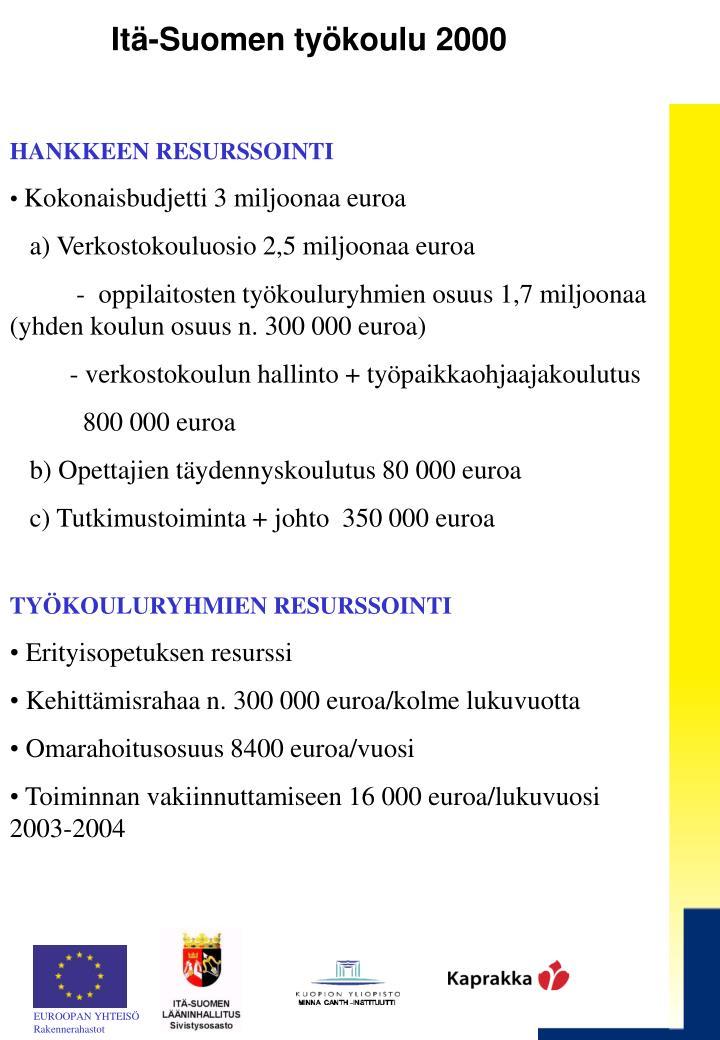 Itä-Suomen työkoulu 2000