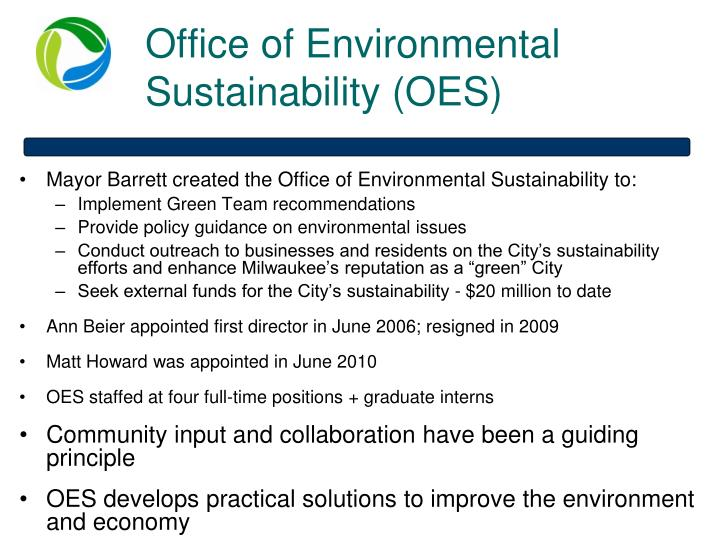 Office of Environmental Sustainability (OES)