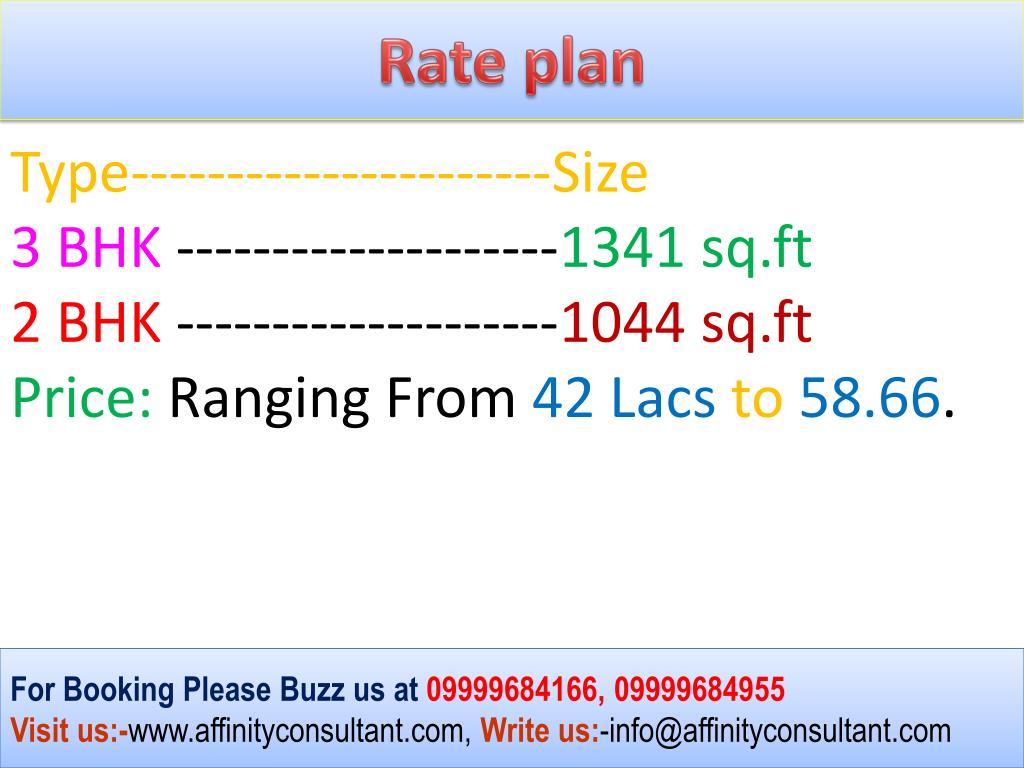 Rate plan