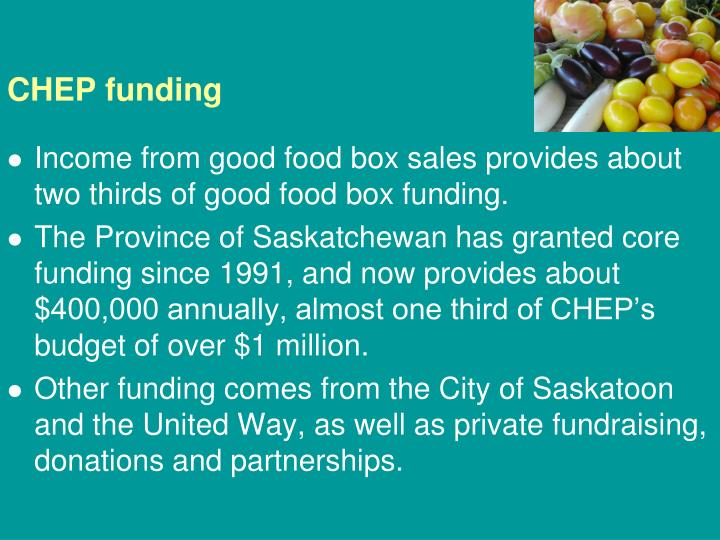 CHEP funding