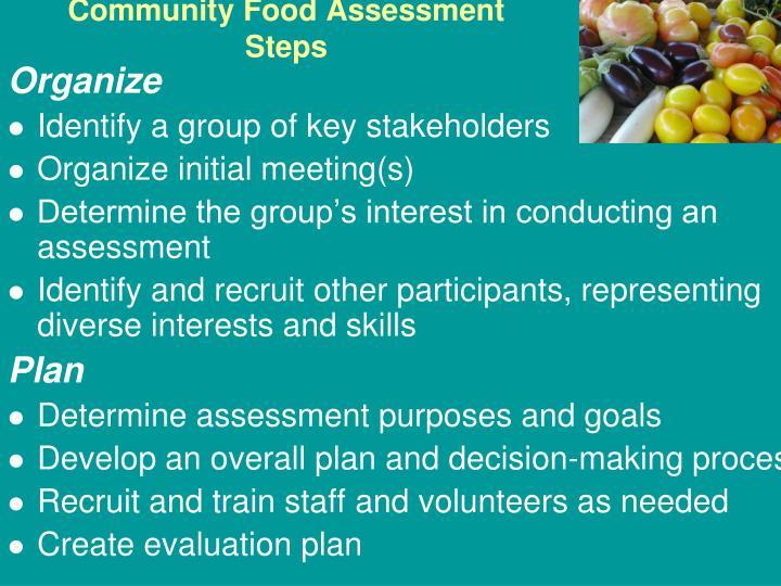 Community Food Assessment