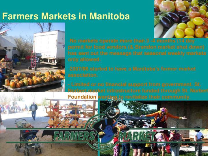 Farmers Markets in Manitoba