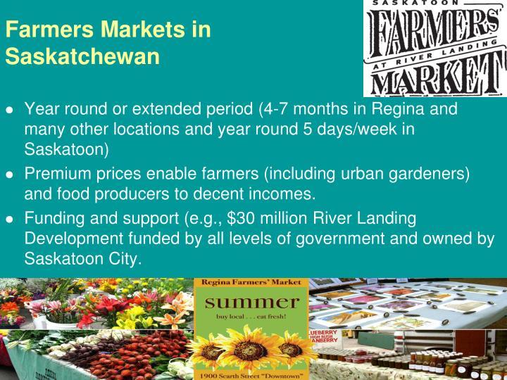 Farmers Markets in Saskatchewan