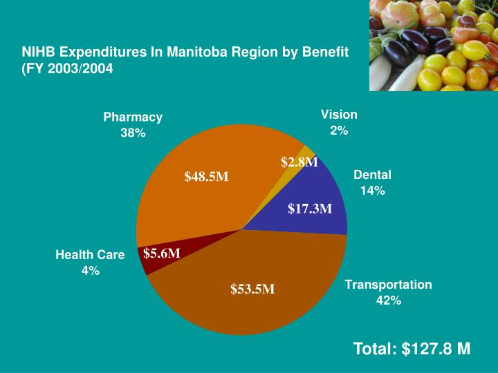 NIHB Expenditures In Manitoba Region by Benefit