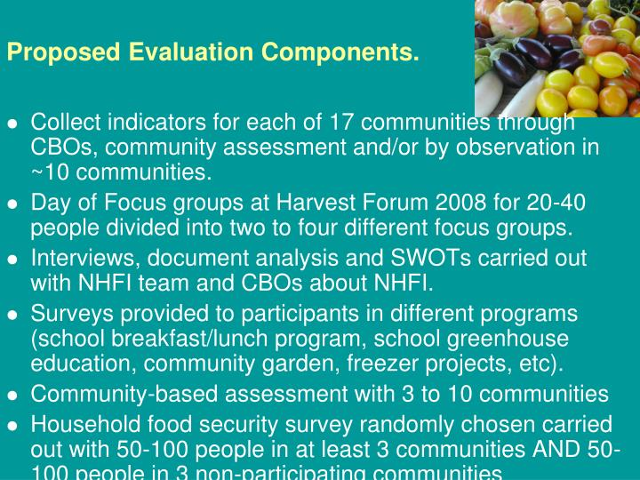 Proposed Evaluation Components.