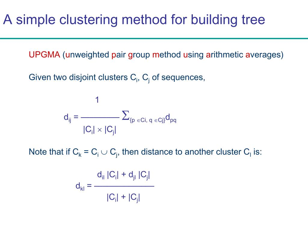 A simple clustering method for building tree