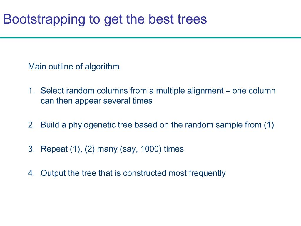 Bootstrapping to get the best trees