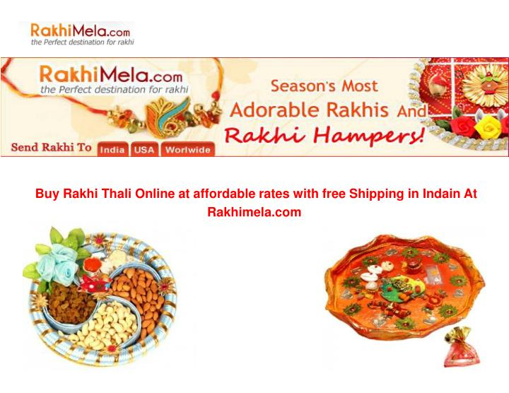 Buy Rakhi Thali Online at affordable rates with free Shipping in Indain At                          ...