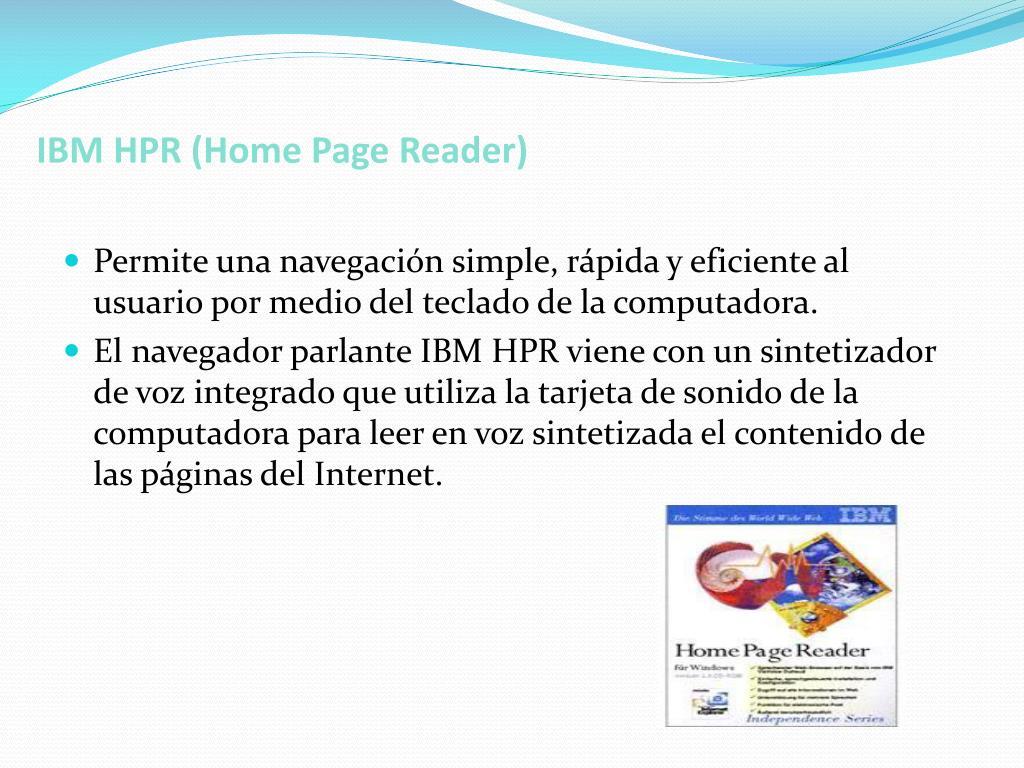 IBM HPR (Home Page Reader)