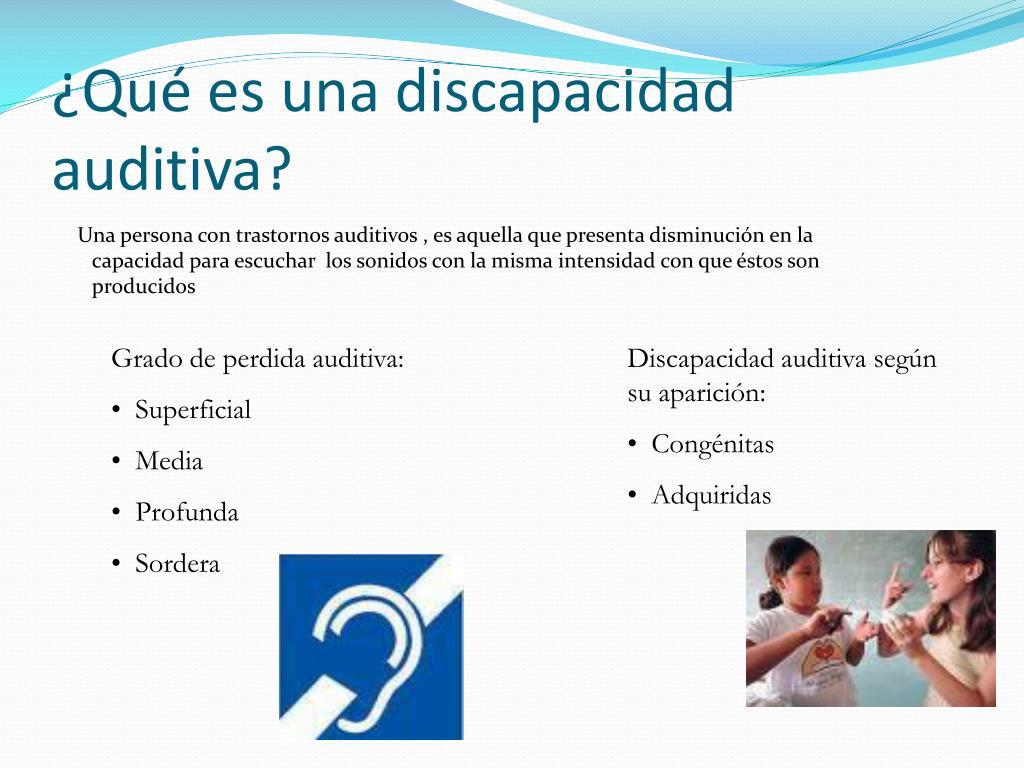 ¿Qué es una discapacidad auditiva?