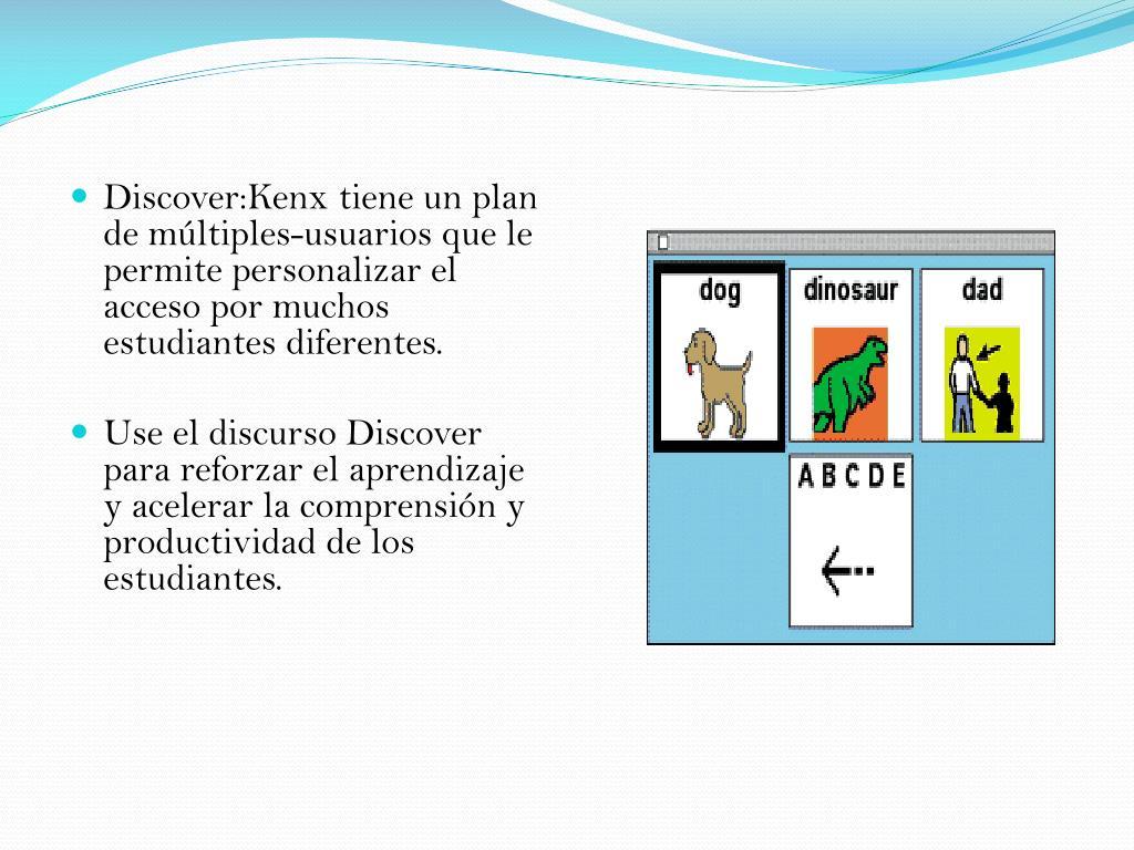 Discover:Kenx tiene un plan de múltiples-usuarios que le permite personalizar el acceso por muchos estudiantes diferentes.