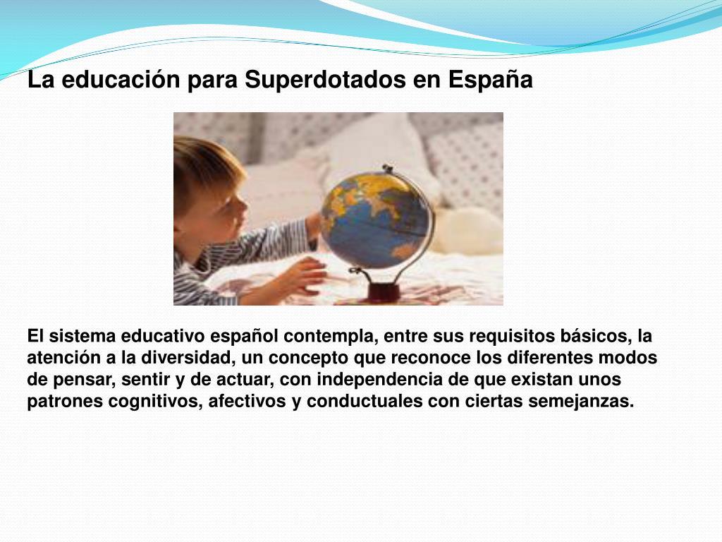 La educación para Superdotados en España