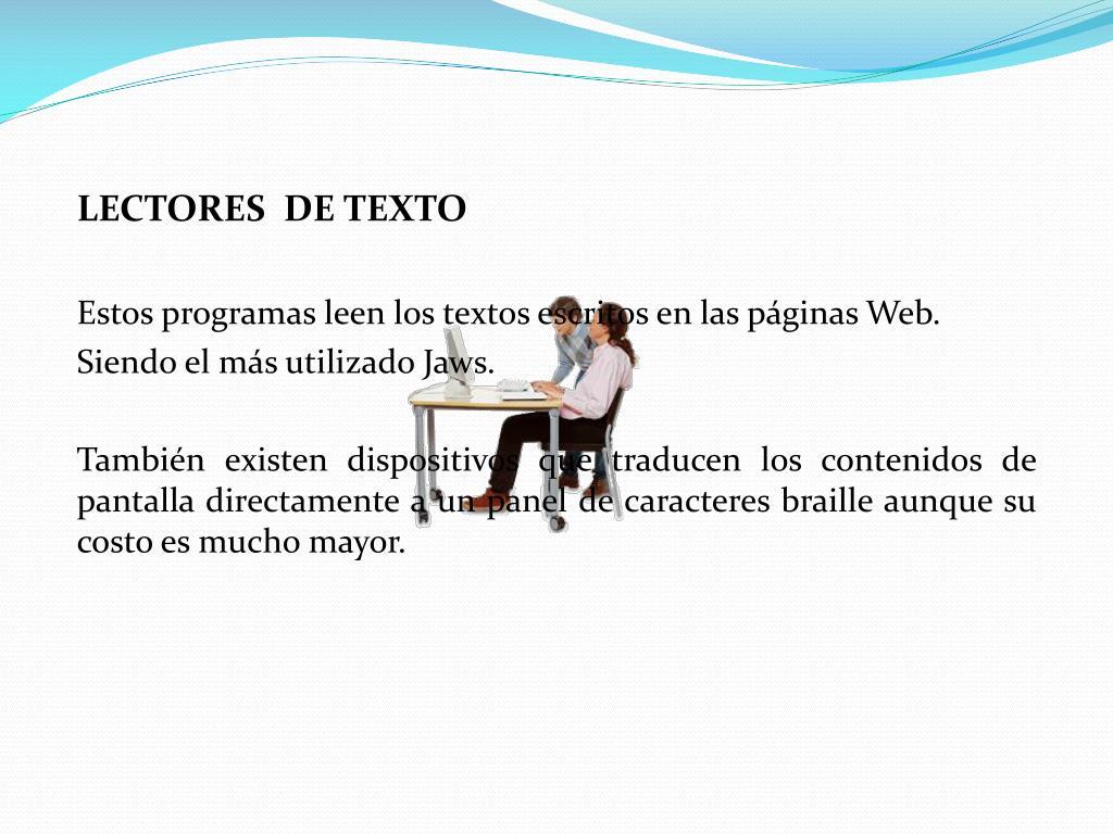 LECTORES  DE TEXTO