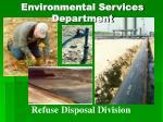 environmental services department