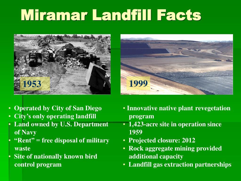 Miramar Landfill Facts