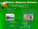 refuse disposal division