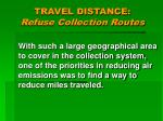 travel distance refuse collection routes