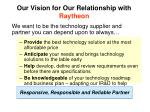 our vision for our relationship with raytheon