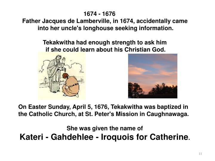 1674 - 1676
