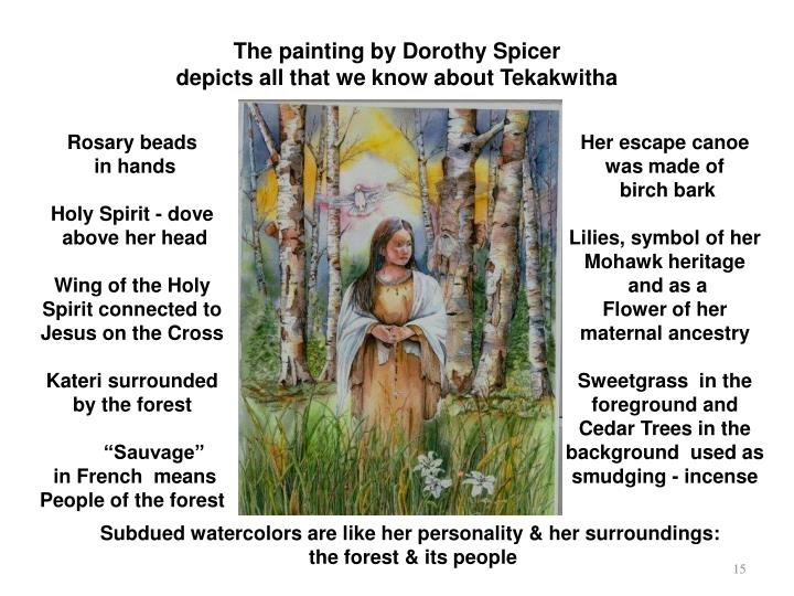 The painting by Dorothy Spicer
