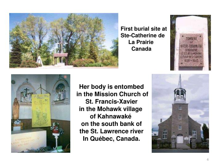 First burial site at