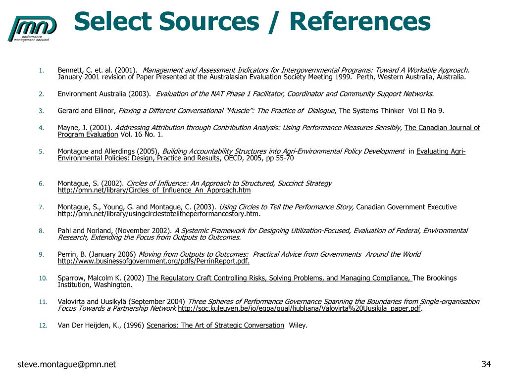 Select Sources / References