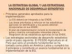 la estrategia global y las estrategias nacionales de desarrollo estad stico