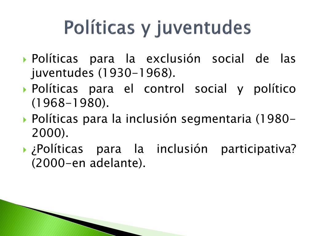 Políticas y juventudes