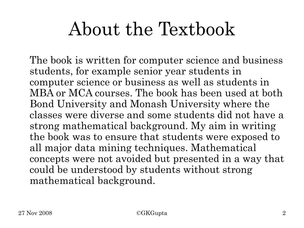 About the Textbook