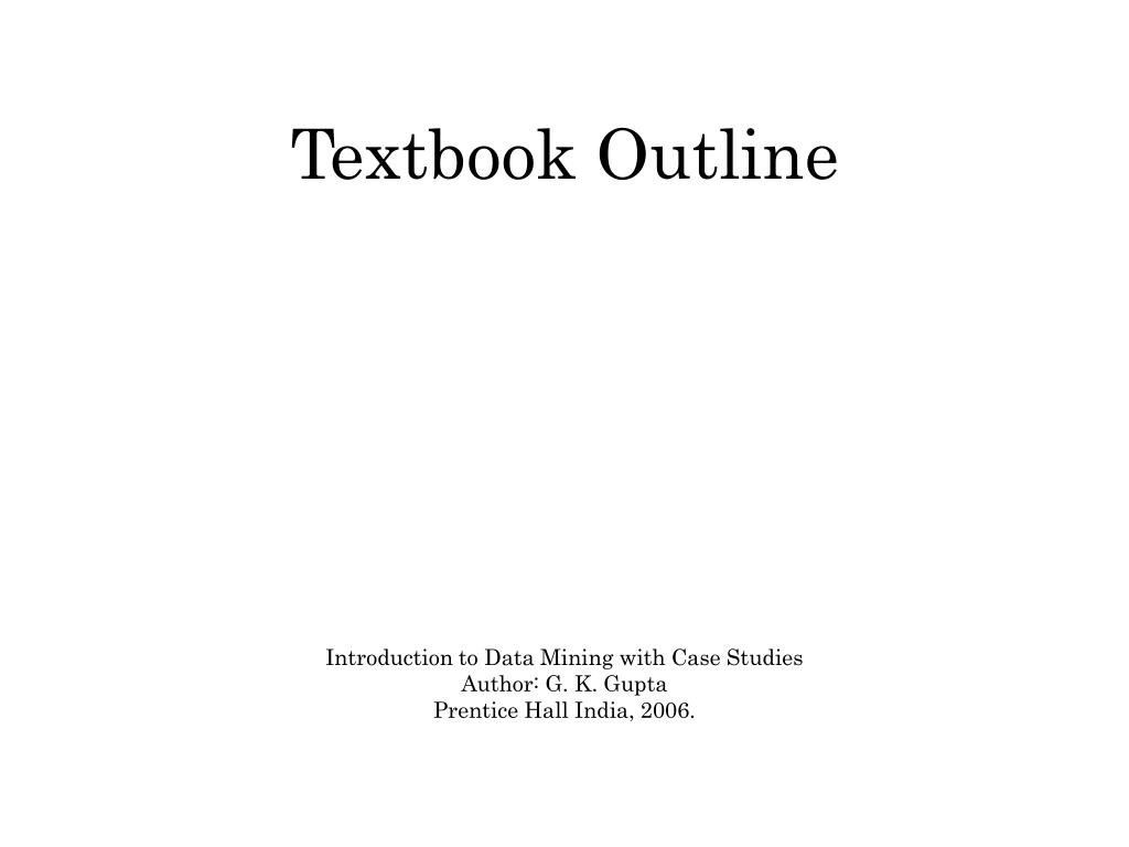textbook outline