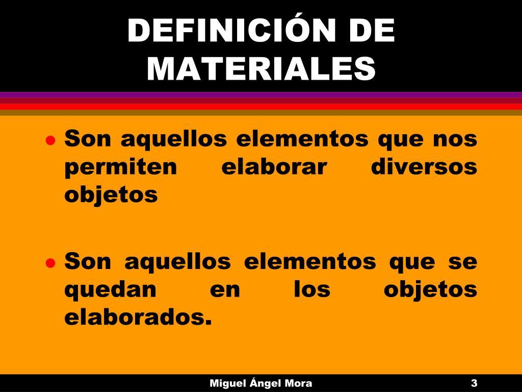 DEFINICIÓN DE