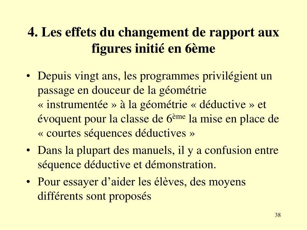4. Les effets du changement de rapport aux figures initié en 6ème