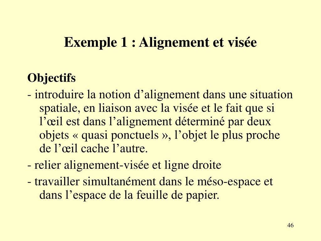 Exemple 1 : Alignement et visée