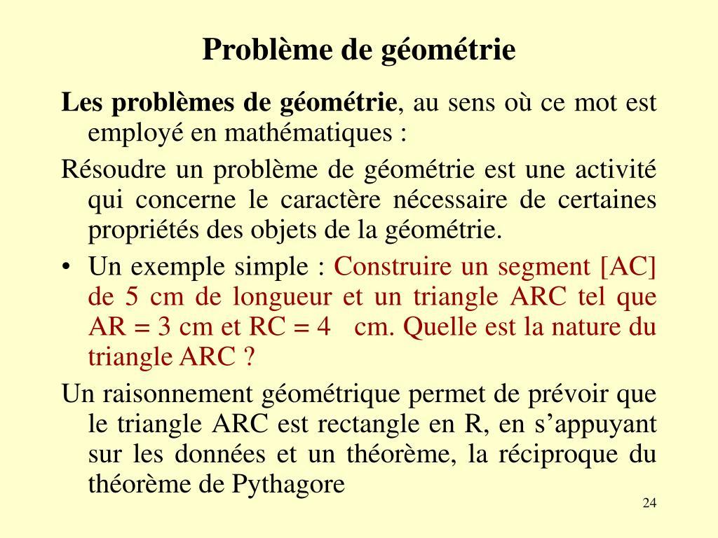 Problème de géométrie