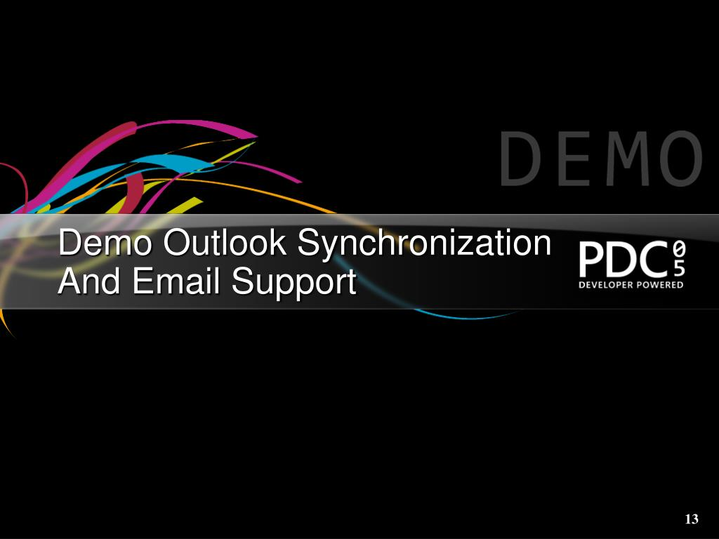 Demo Outlook Synchronization And Email Support