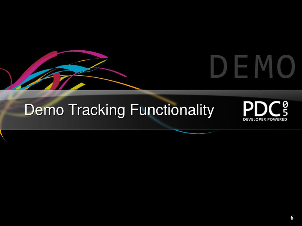 Demo Tracking Functionality