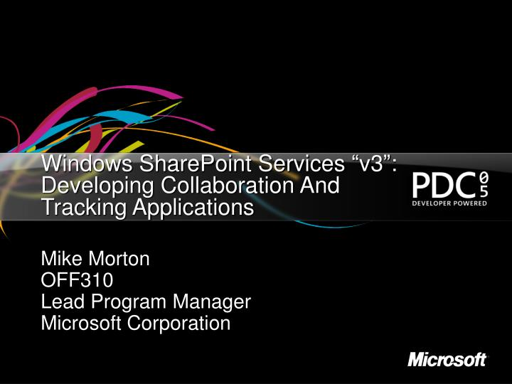 Windows sharepoint services v3 developing collaboration and tracking applications
